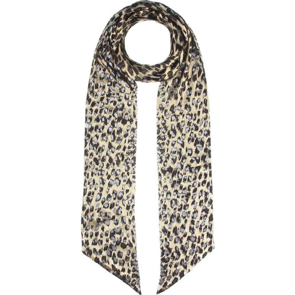 イヴ サンローラン Saint Laurent レディース マフラー・スカーフ・ストール 【metallic leopard scarf】Dore/Noir