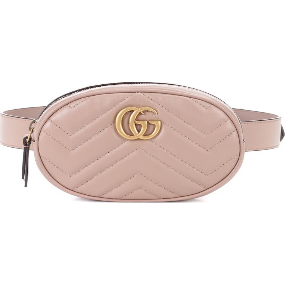 グッチ Gucci レディース ボディバッグ・ウエストポーチ バッグ【gg marmont leather belt bag】Beige