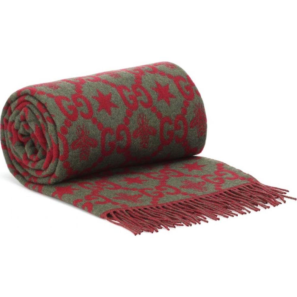 グッチ Gucci レディース 雑貨 ブランケット【wool blanket】Red/Green/Red
