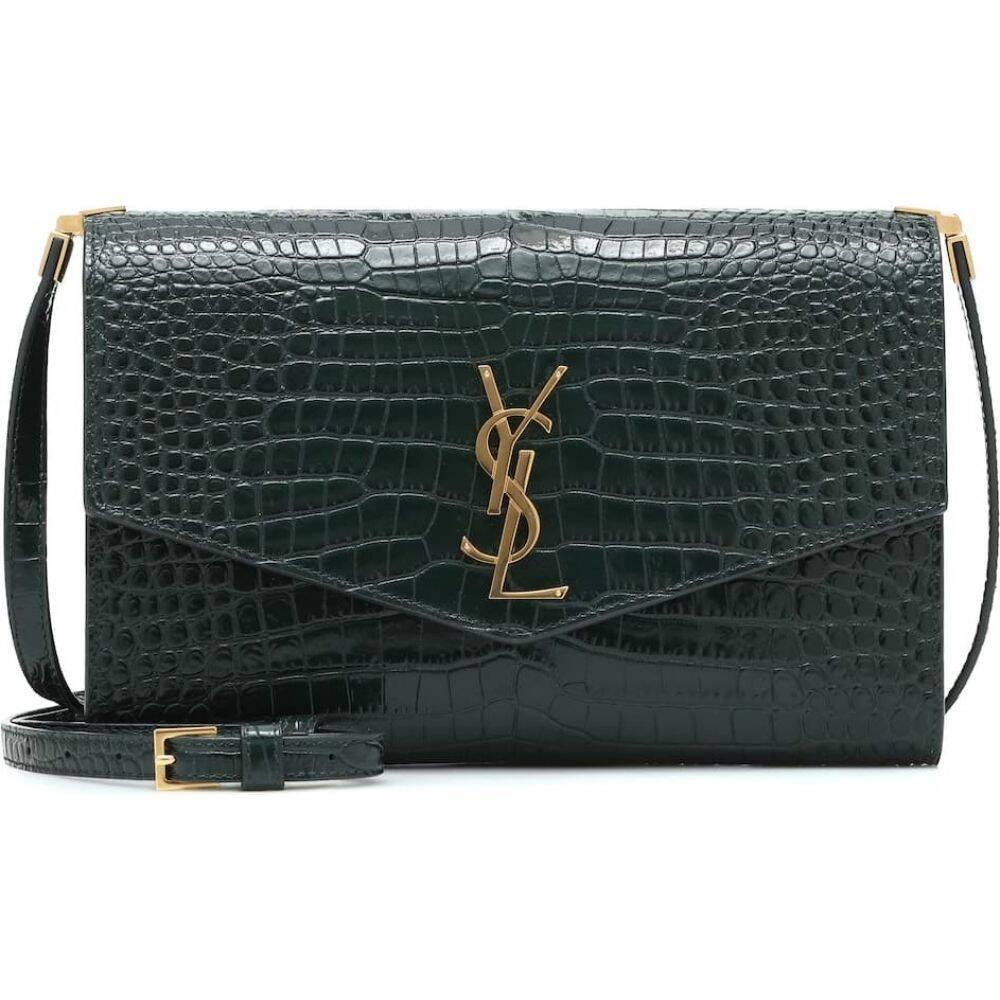 イヴ サンローラン Saint Laurent レディース ショルダーバッグ バッグ【uptown leather crossbody bag】Mint/Mint