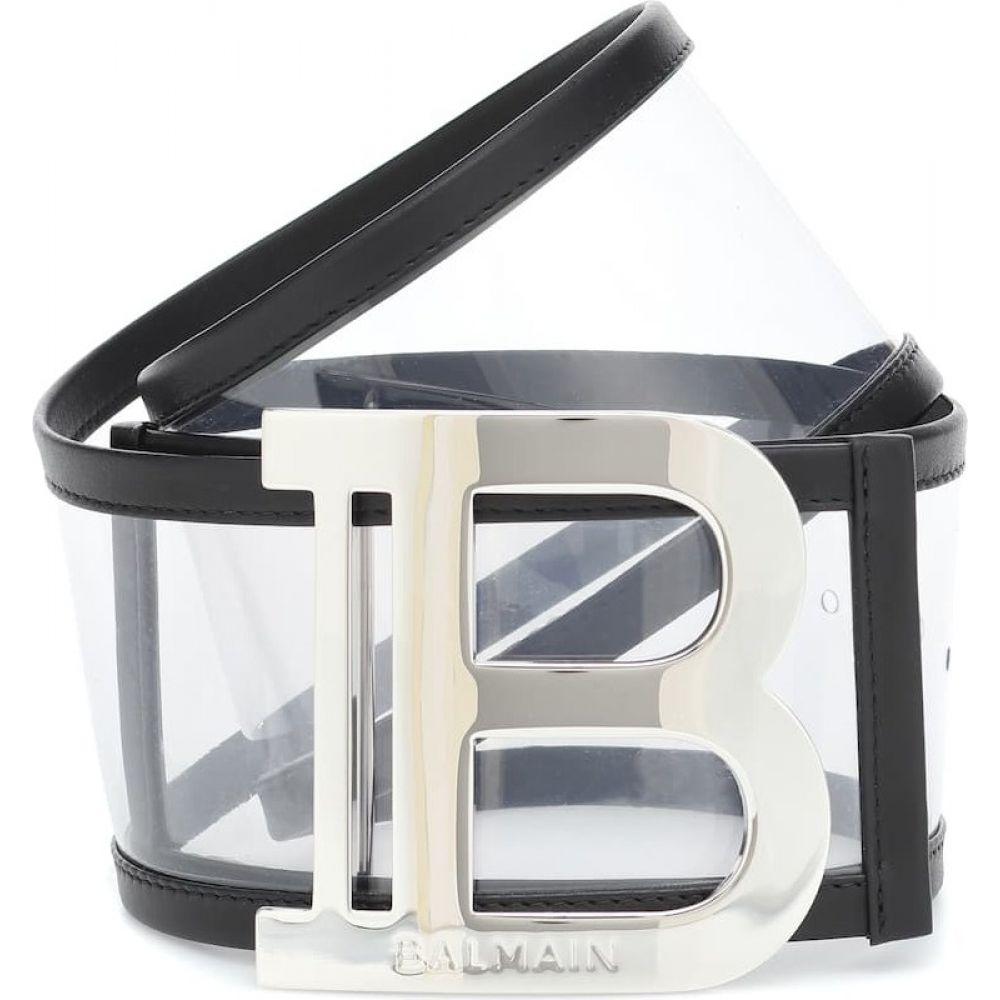 バルマン Balmain レディース ベルト 【logo pvc belt】Noir
