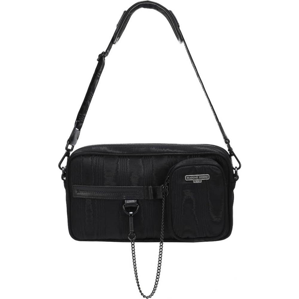 マリーン セル Marine Serre レディース ボディバッグ・ウエストポーチ バッグ【moire belt bag】Black