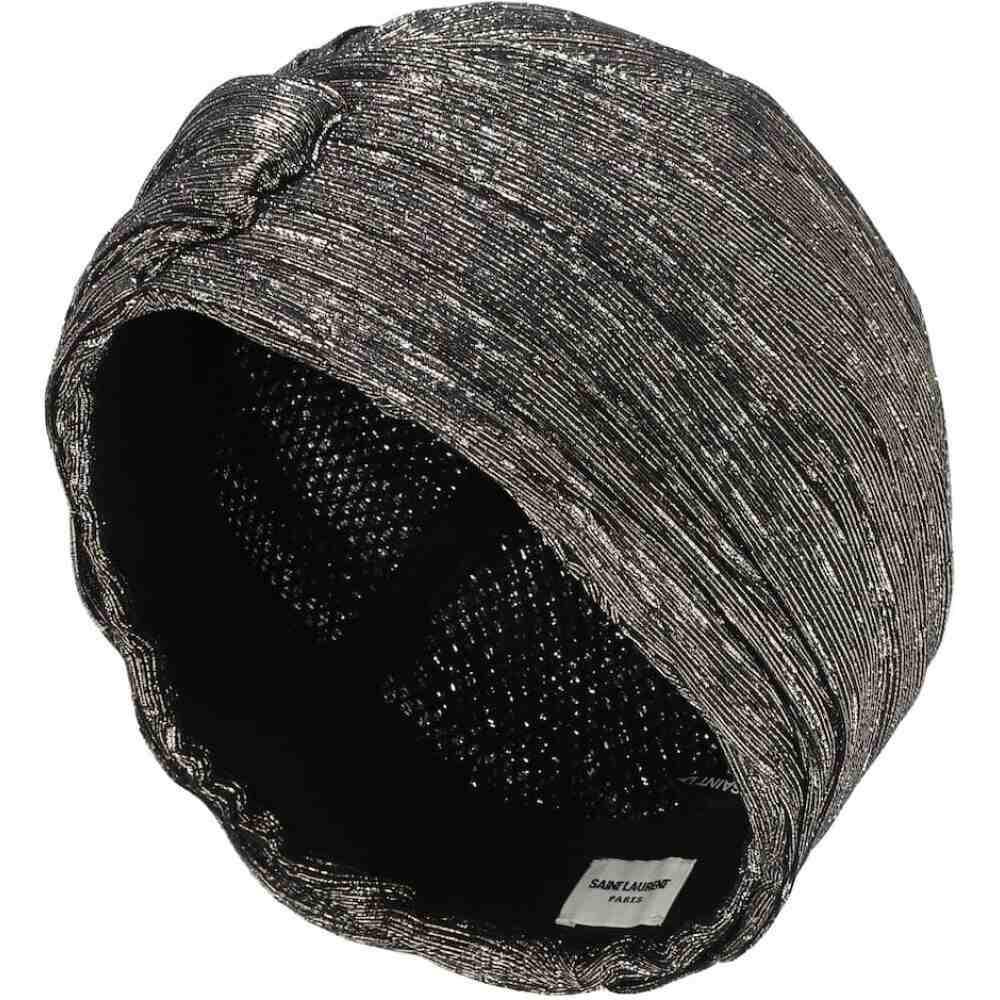 イヴ サンローラン Saint Laurent レディース ヘアアクセサリー ターバン【metallic silk-blend turban】Or