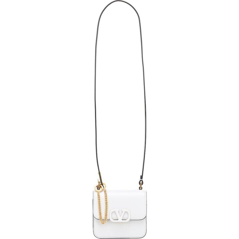 ヴァレンティノ Valentino レディース ショルダーバッグ バッグ【garavani vsling micro leather shoulder bag】Optic White