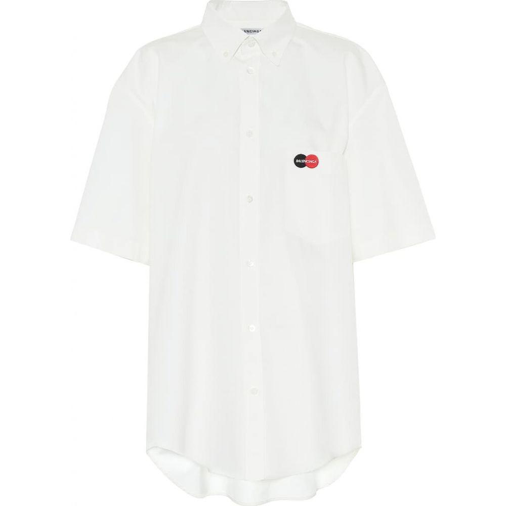 バレンシアガ Balenciaga レディース ブラウス・シャツ トップス【uniform cotton-poplin shirt】White