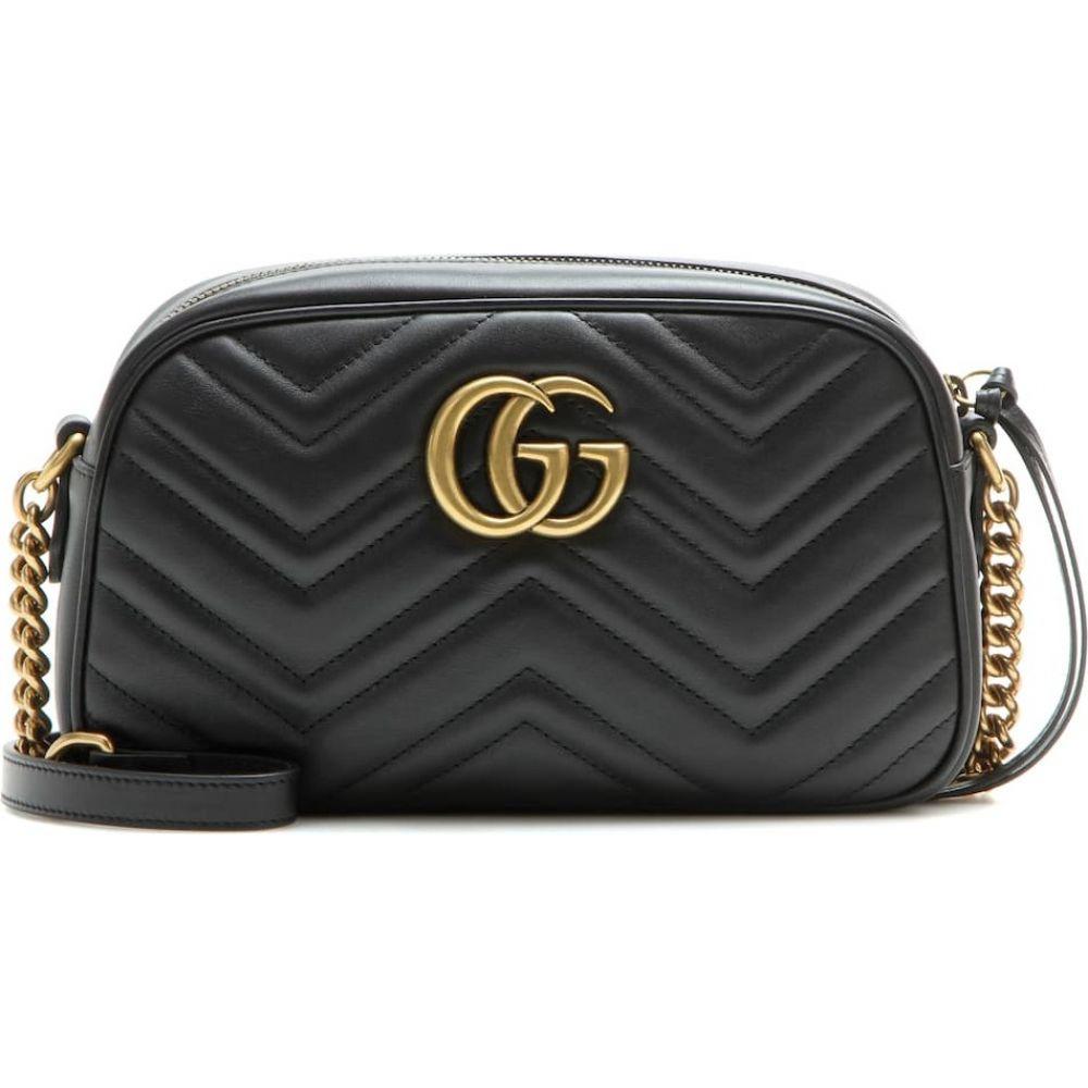グッチ Gucci レディース ショルダーバッグ バッグ【gg marmont small shoulder bag】Nero/Nero