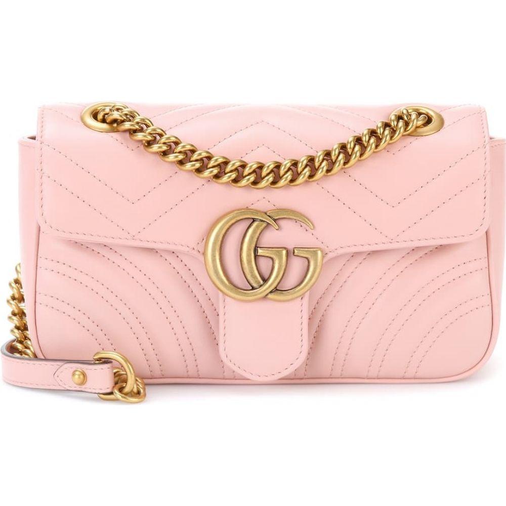 グッチ Gucci レディース ショルダーバッグ バッグ【gg marmont mini leather shoulder bag】Pink/Pink