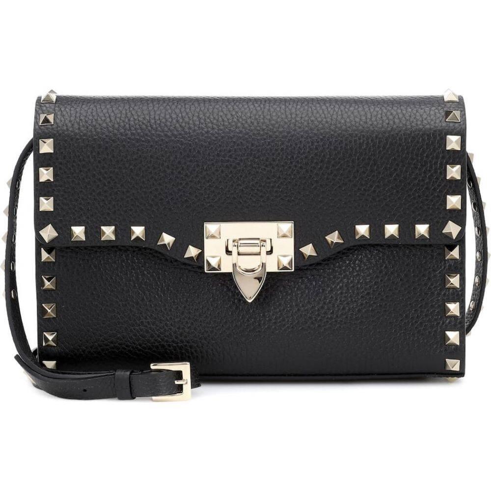 ヴァレンティノ Valentino レディース ショルダーバッグ バッグ【garavani rockstud small leather shoulder bag】Nero
