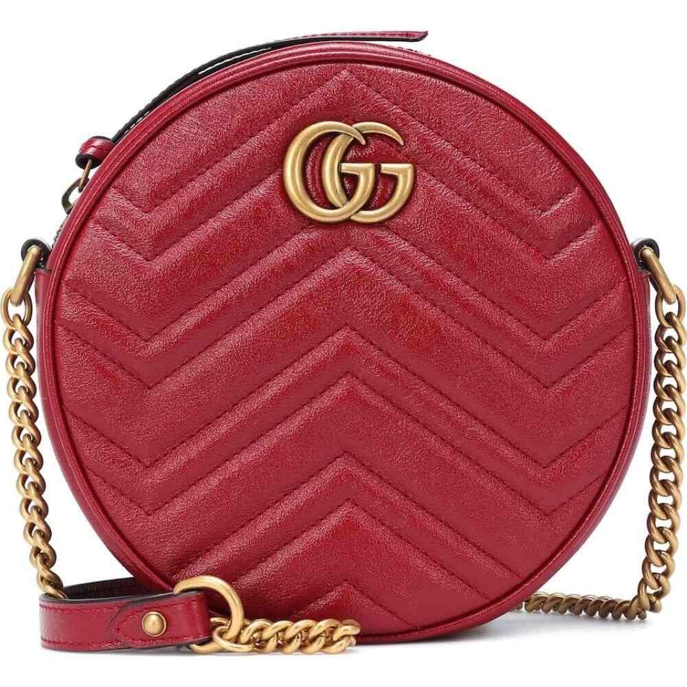 グッチ Gucci レディース ショルダーバッグ バッグ【gg marmont mini leather crossbody bag】Romantic Cerise