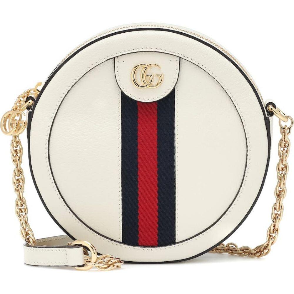 グッチ Gucci レディース ショルダーバッグ バッグ【ophidia mini round leather shoulder bag】M.White/Brb