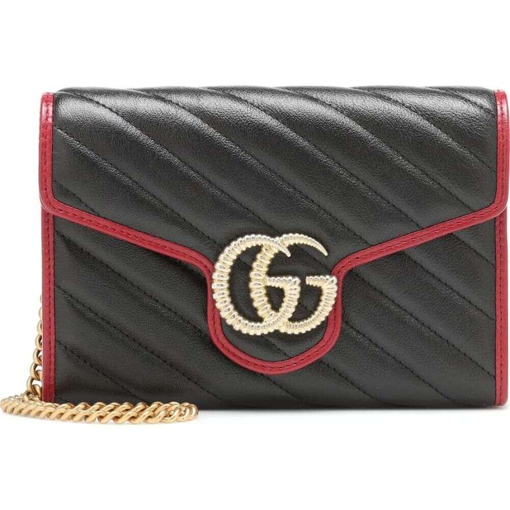 グッチ Gucci レディース ショルダーバッグ バッグ【gg marmont leather shoulder bag】Nero/Romantic Ceris