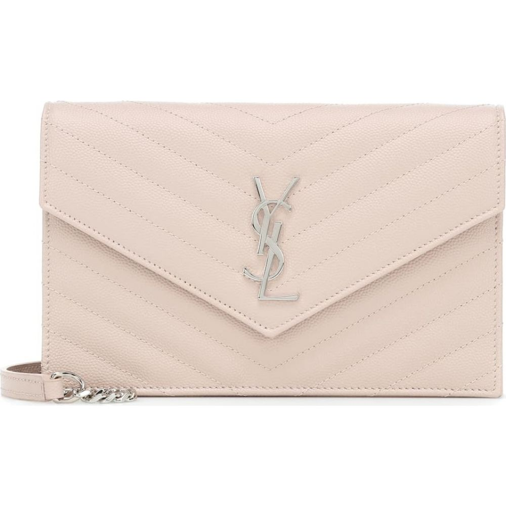 イヴ サンローラン Saint Laurent レディース ショルダーバッグ バッグ【envelope small leather shoulder bag】Marble Pink