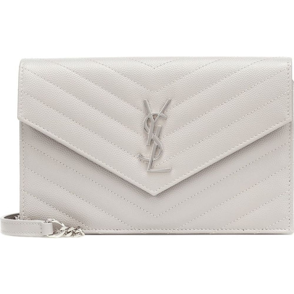 イヴ サンローラン Saint Laurent レディース ショルダーバッグ バッグ【envelope small leather shoulder bag】Granite