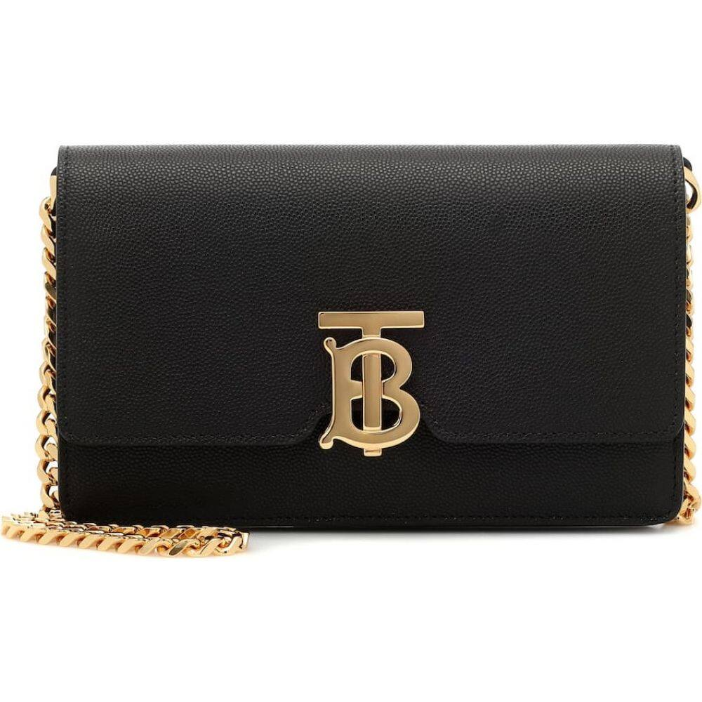 バーバリー Burberry レディース ショルダーバッグ バッグ【carrie leather shoulder bag】Black