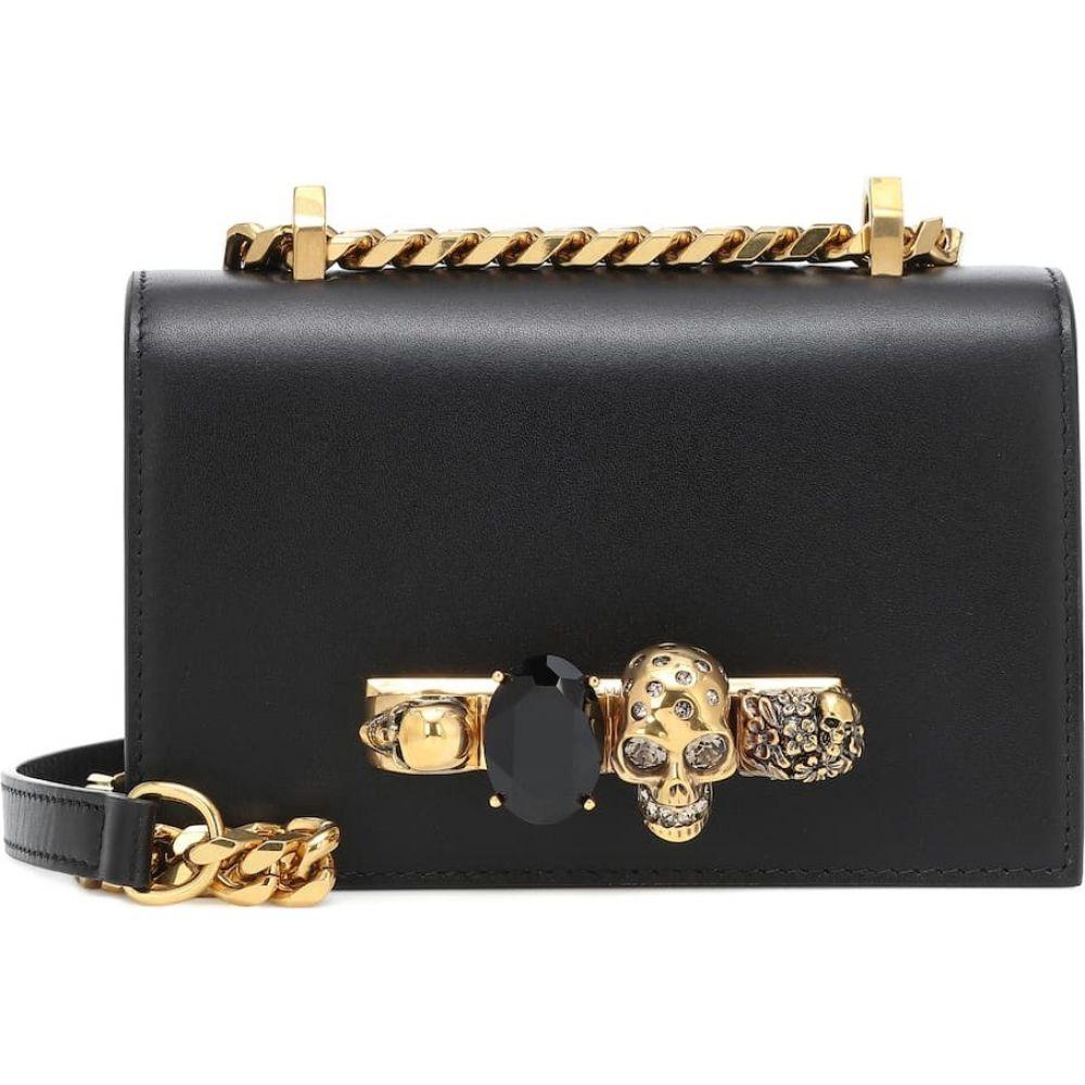 アレキサンダー マックイーン Alexander McQueen レディース ショルダーバッグ バッグ【jeweled mini leather crossbody bag】Black