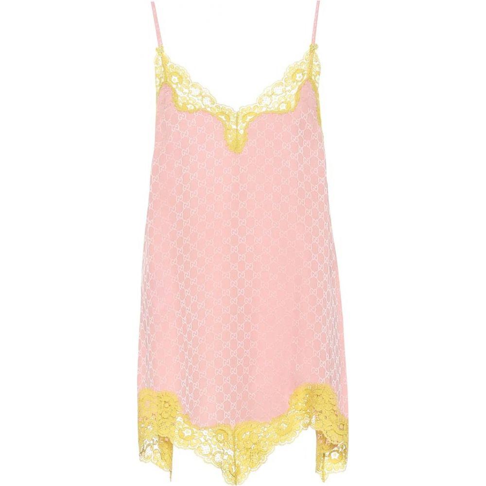 グッチ Gucci レディース インナー・下着 【gg-jacquard silk minidress】Pink