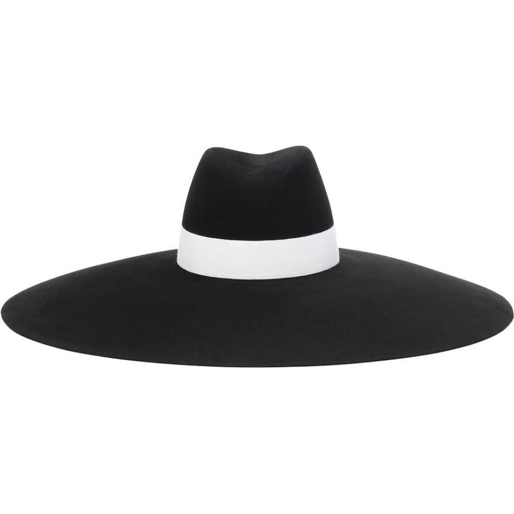 バルマン Balmain レディース 帽子 【felt hat】Noir/Blanc