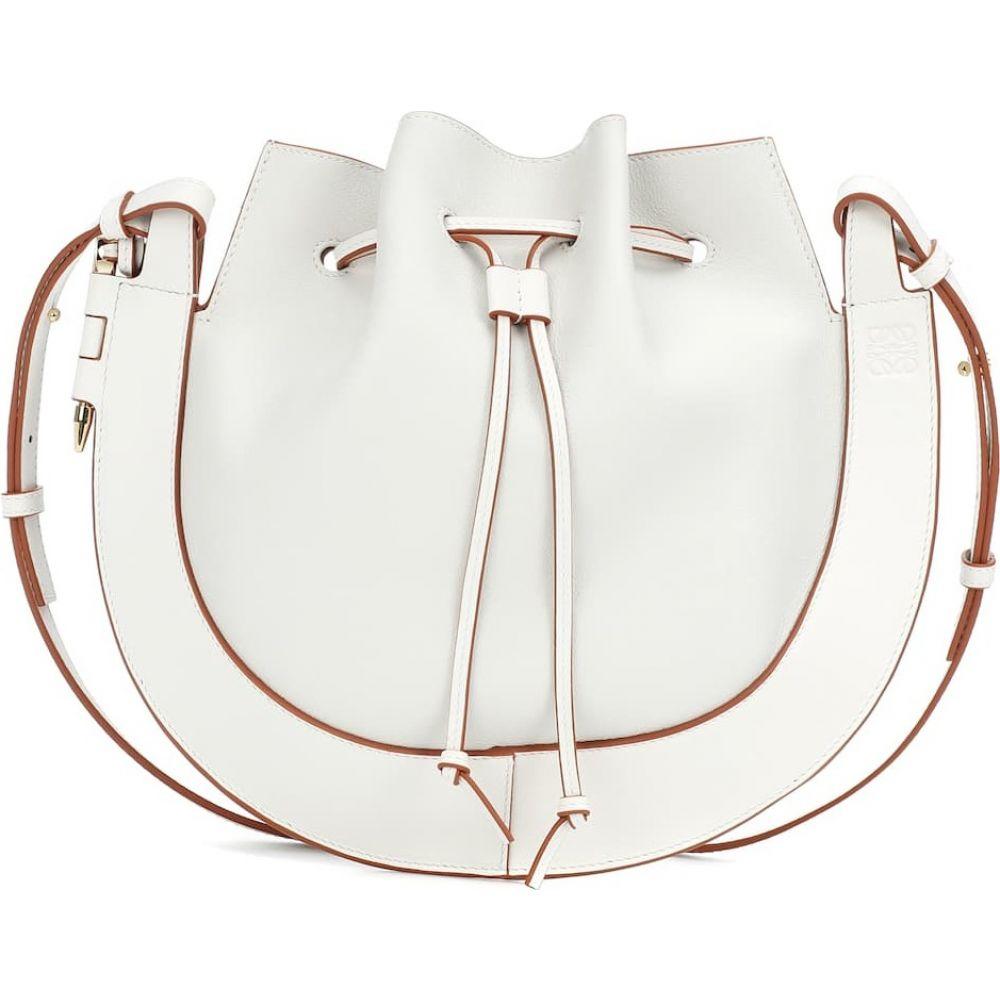 ロエベ Loewe レディース ショルダーバッグ バッグ【horseshoe small leather shoulder bag】Soft White