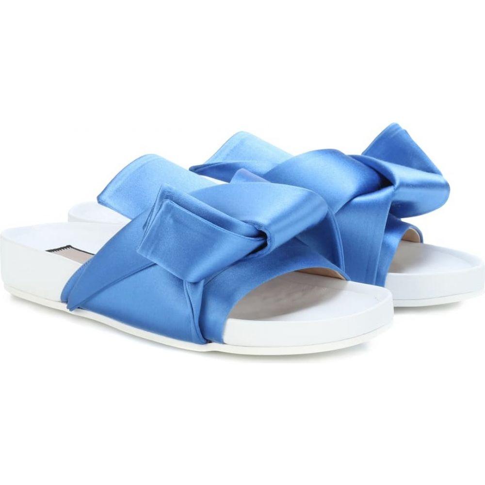 ヌメロ ヴェントゥーノ N21 レディース サンダル・ミュール シューズ・靴【satin slides】Azzurro