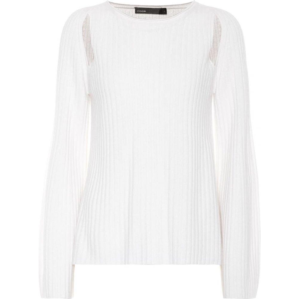 ヴィンス Vince レディース ニット・セーター トップス【cashmere sweater】White