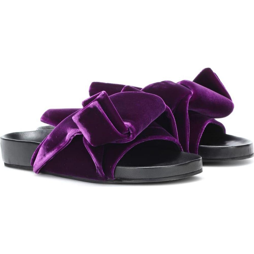ヌメロ ヴェントゥーノ N21 レディース サンダル・ミュール シューズ・靴【velvet knot slides】