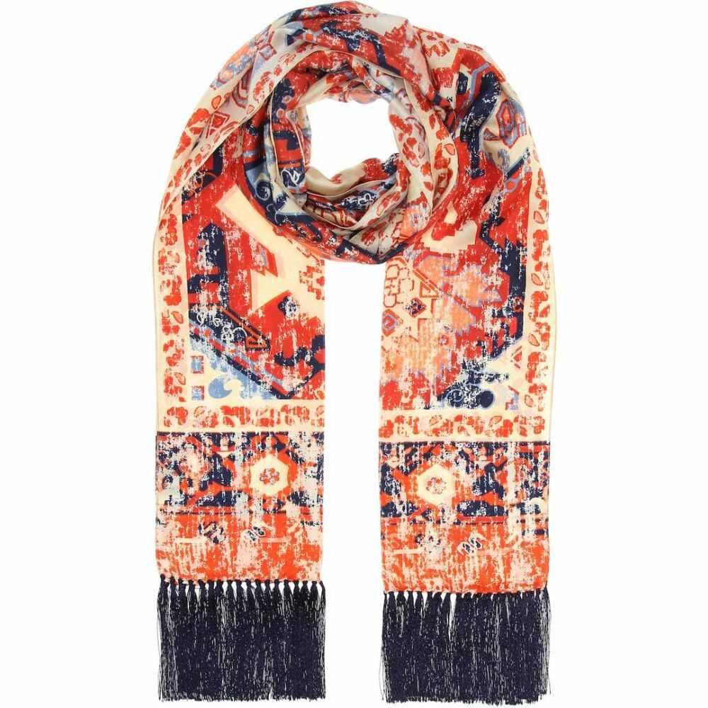 アクネ ストゥディオズ Acne Studios レディース マフラー・スカーフ・ストール 【printed silk scarf】Burgundy/Beige