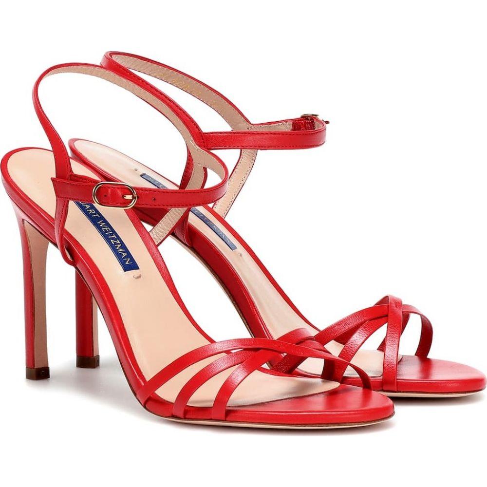 スチュアート ワイツマン Stuart Weitzman レディース サンダル・ミュール シューズ・靴【starla 105 leather sandals】Follow me red