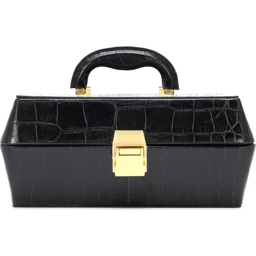 スタウド Staud レディース トートバッグ バッグ【lincoln embossed leather tote】Black Faux Croc
