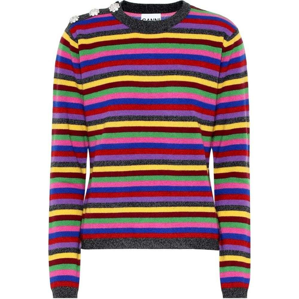 ガニー Ganni レディース ニット・セーター トップス【striped cashmere sweater】Multicolour