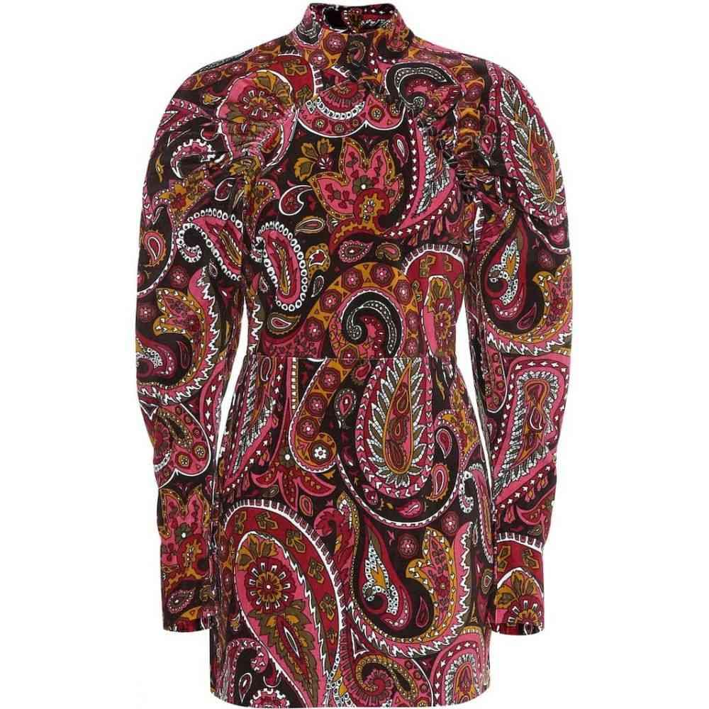 ローテート ROTATE BIRGER CHRISTENSEN レディース ワンピース ワンピース・ドレス【paisley cotton minidress】Aop Rasperry