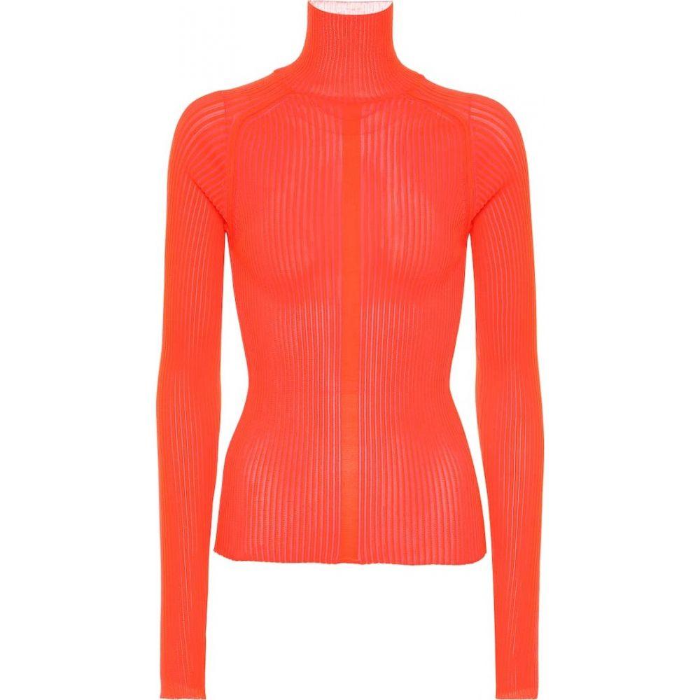アクネ ストゥディオズ Acne Studios レディース ニット・セーター トップス【ribbed-knit turtleneck sweater】Flou Red