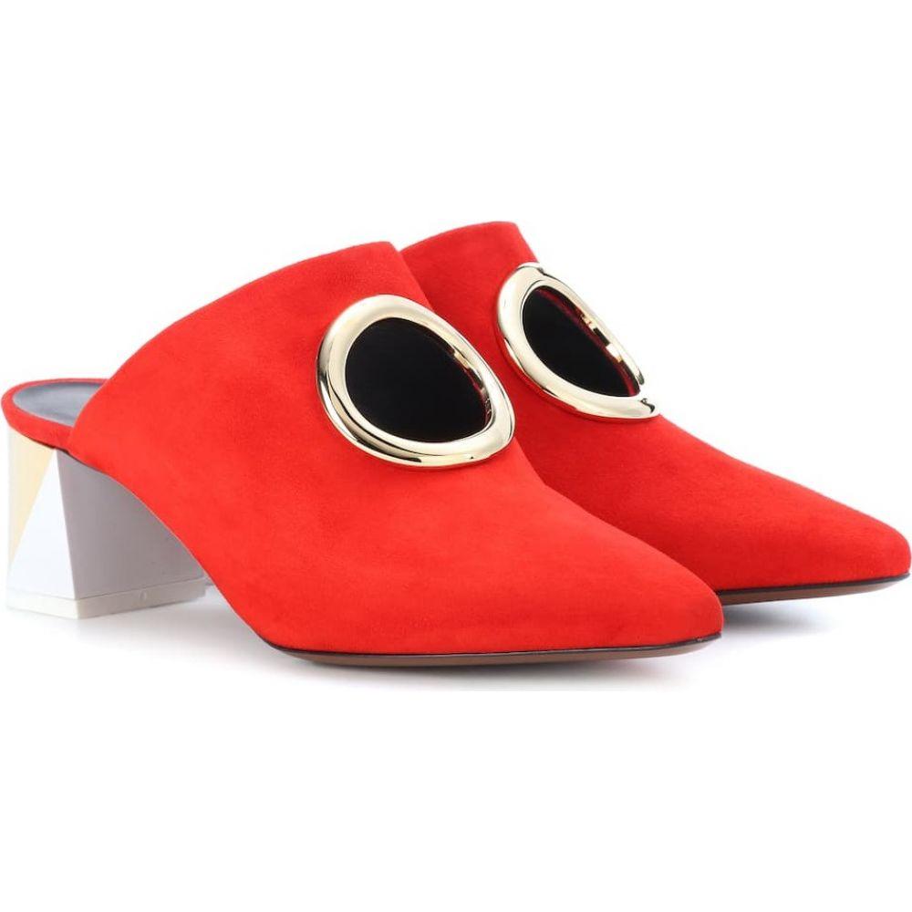 ネオアス Neous レディース サンダル・ミュール シューズ・靴【pleione suede mules】Red/Gold/White