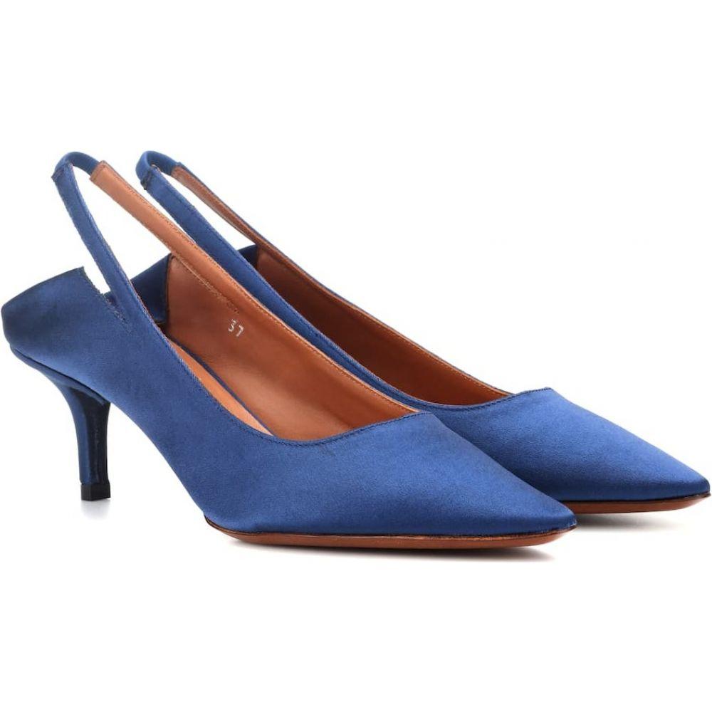 ヴェトモン Vetements レディース パンプス シューズ・靴【slingback satin pumps】Blue