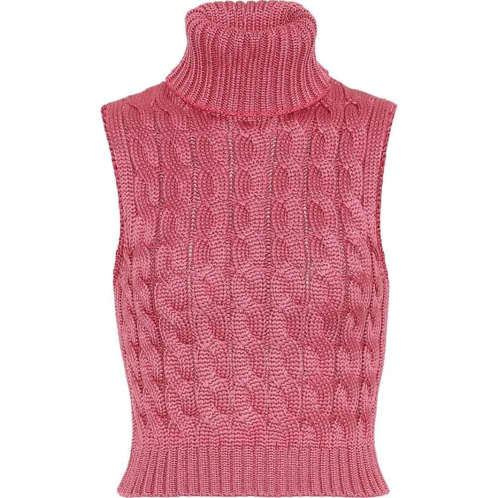 マシュー アダムズ ドーラン Matthew Adams Dolan レディース ベスト・ジレ トップス【cable-knit sweater vest】Orchid