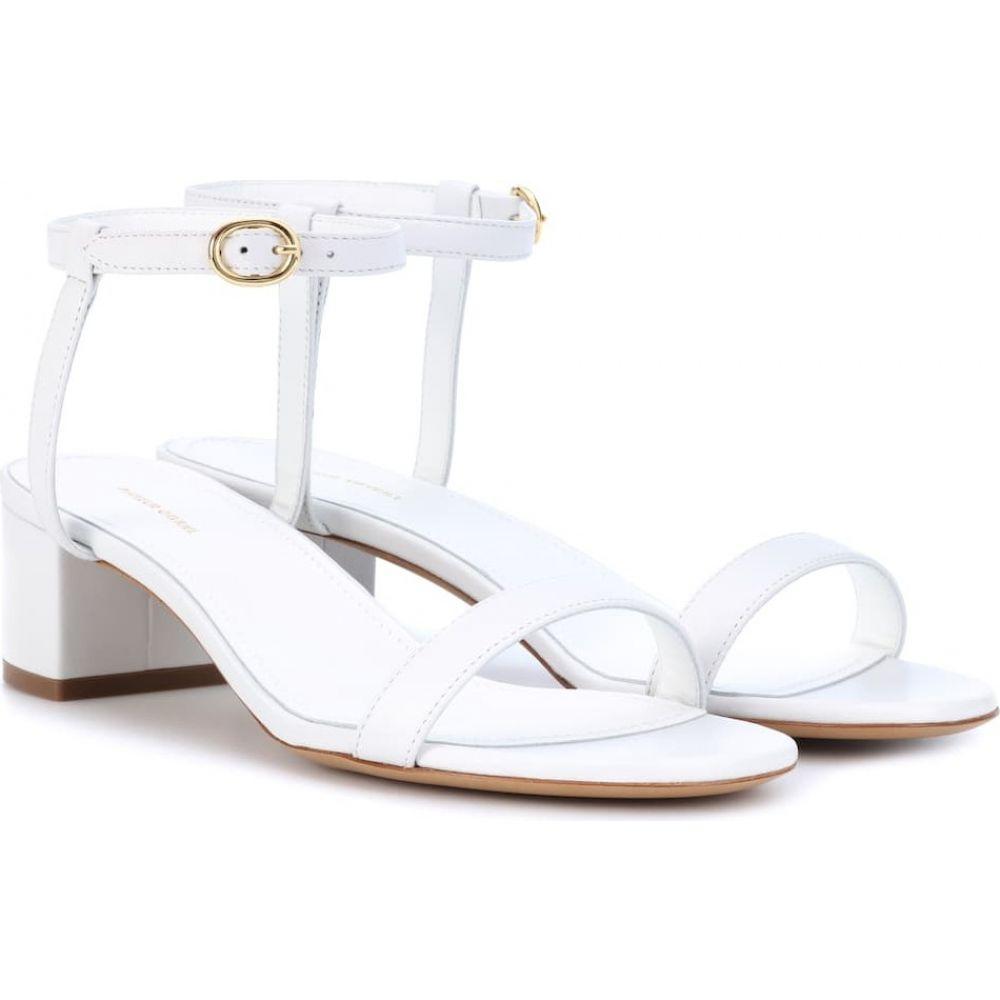 マンサーガブリエル Mansur Gavriel レディース サンダル・ミュール シューズ・靴【leather sandals】White