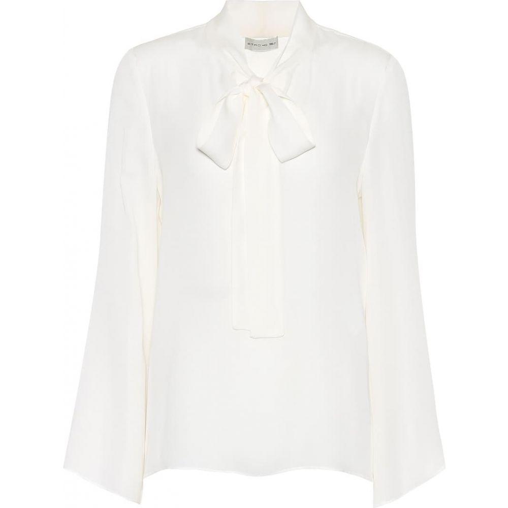 エトロ Etro レディース ブラウス・シャツ トップス【silk georgette blouse】Ivory