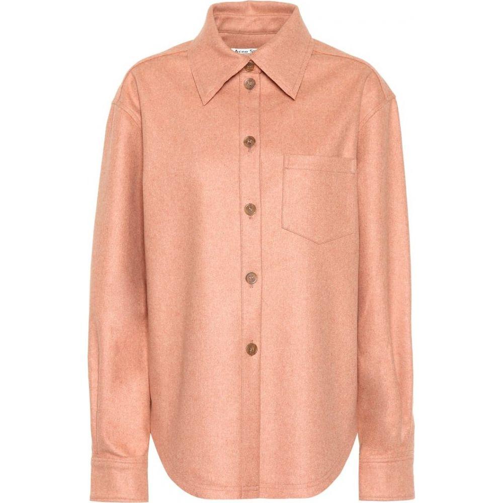アクネ ストゥディオズ Acne Studios レディース ブラウス・シャツ フランネルシャツ トップス【flannel button-down shirt】Dusty Pink
