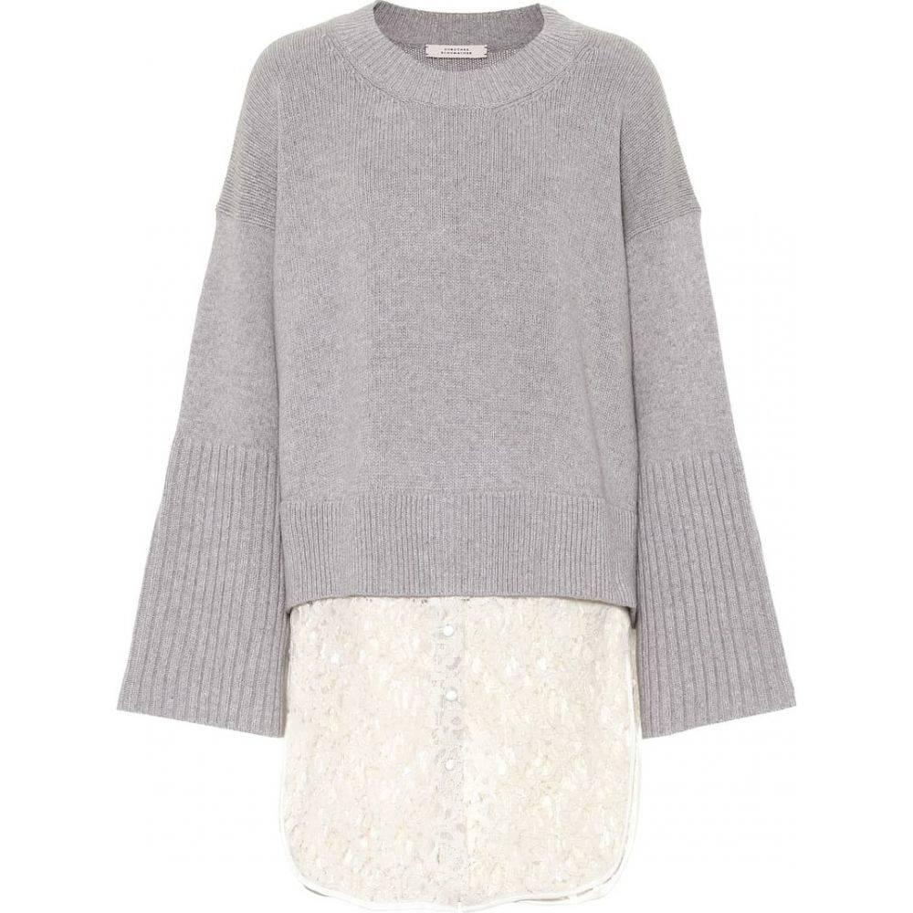 ドロシー シューマッハ Dorothee Schumacher レディース ニット・セーター トップス【wool and cashmere-blend sweater】Aluminium Grey