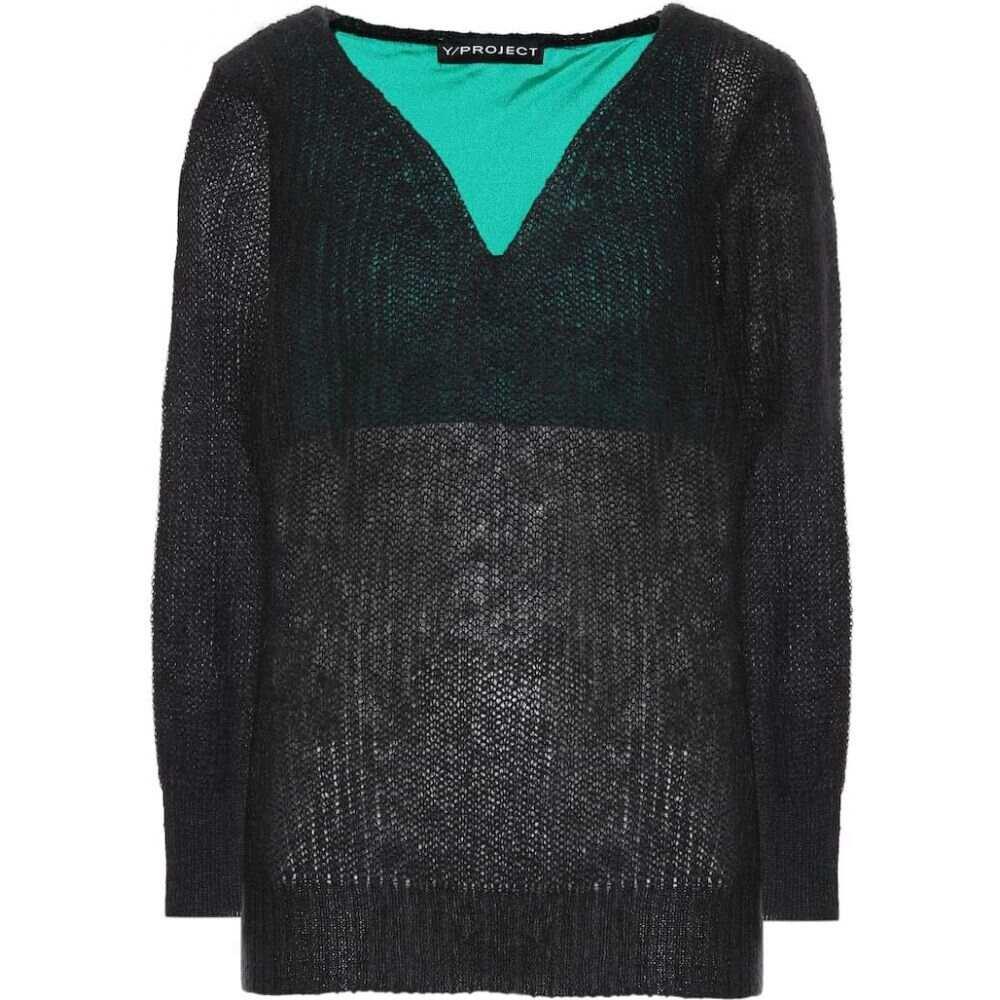 ワイプロジェクト Y/PROJECT レディース ニット・セーター トップス【alpaca and wool-blend sweater】black