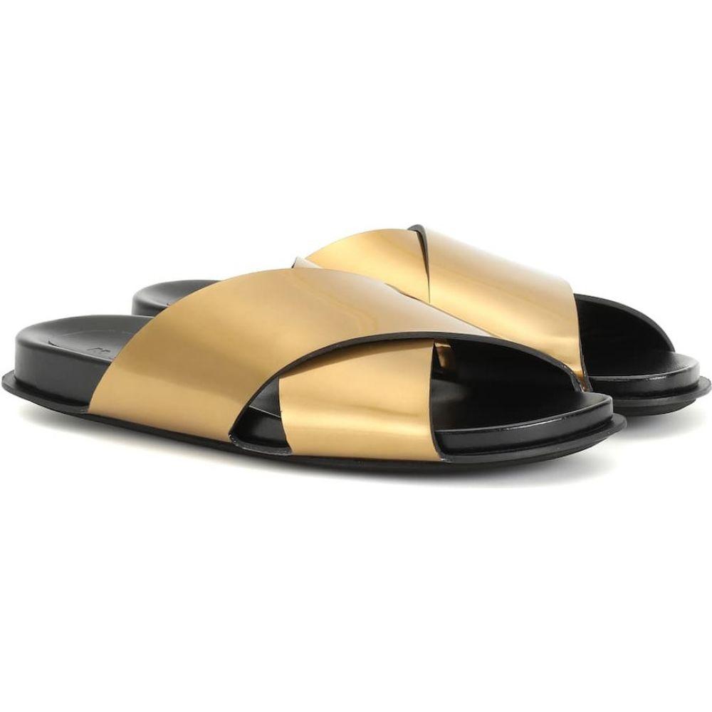 マルニ Marni レディース サンダル・ミュール シューズ・靴【metallic leather slides】