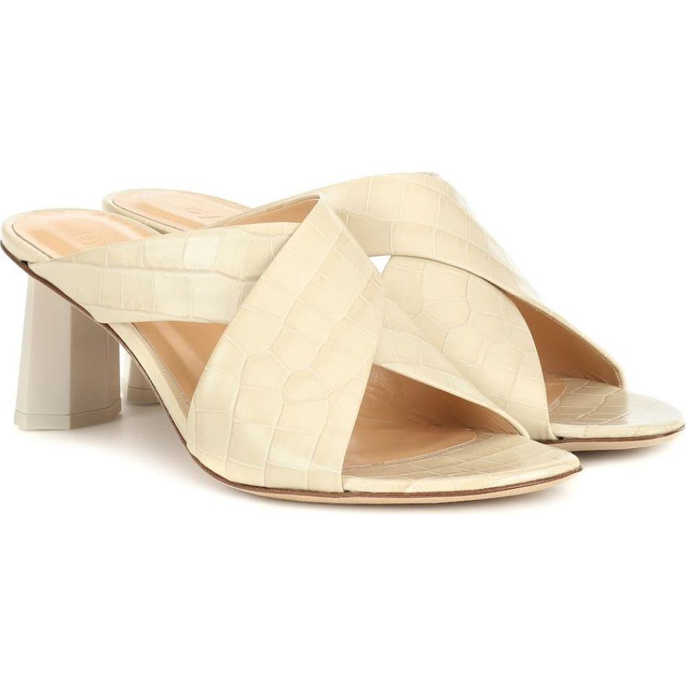 バイ ファー By Far レディース サンダル・ミュール シューズ・靴【jaz croc-effect leather sandals】Cream
