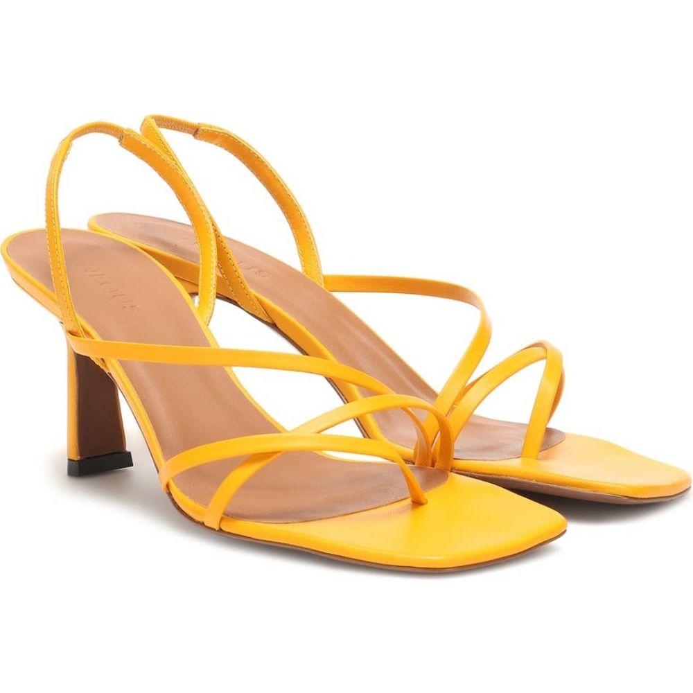 ネオアス Neous レディース サンダル・ミュール シューズ・靴【esmeralda leather sandals】Yellow