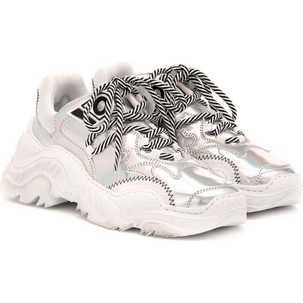 ヌメロ ヴェントゥーノ N21 レディース スニーカー シューズ・靴【billy metallic leather sneakers】silver