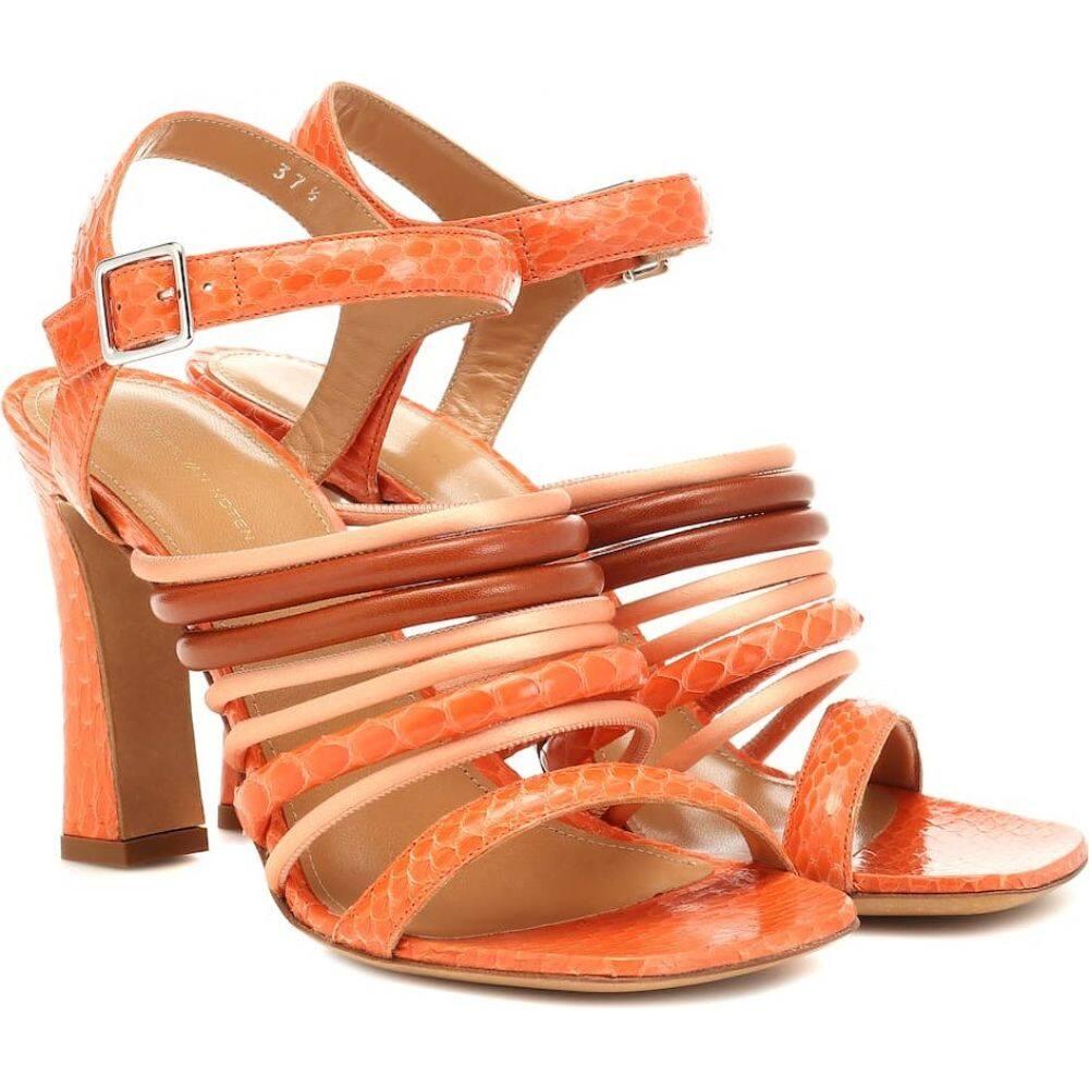 ドリス ヴァン ノッテン Dries Van Noten レディース サンダル・ミュール シューズ・靴【snakeskin and leather sandals】Peach