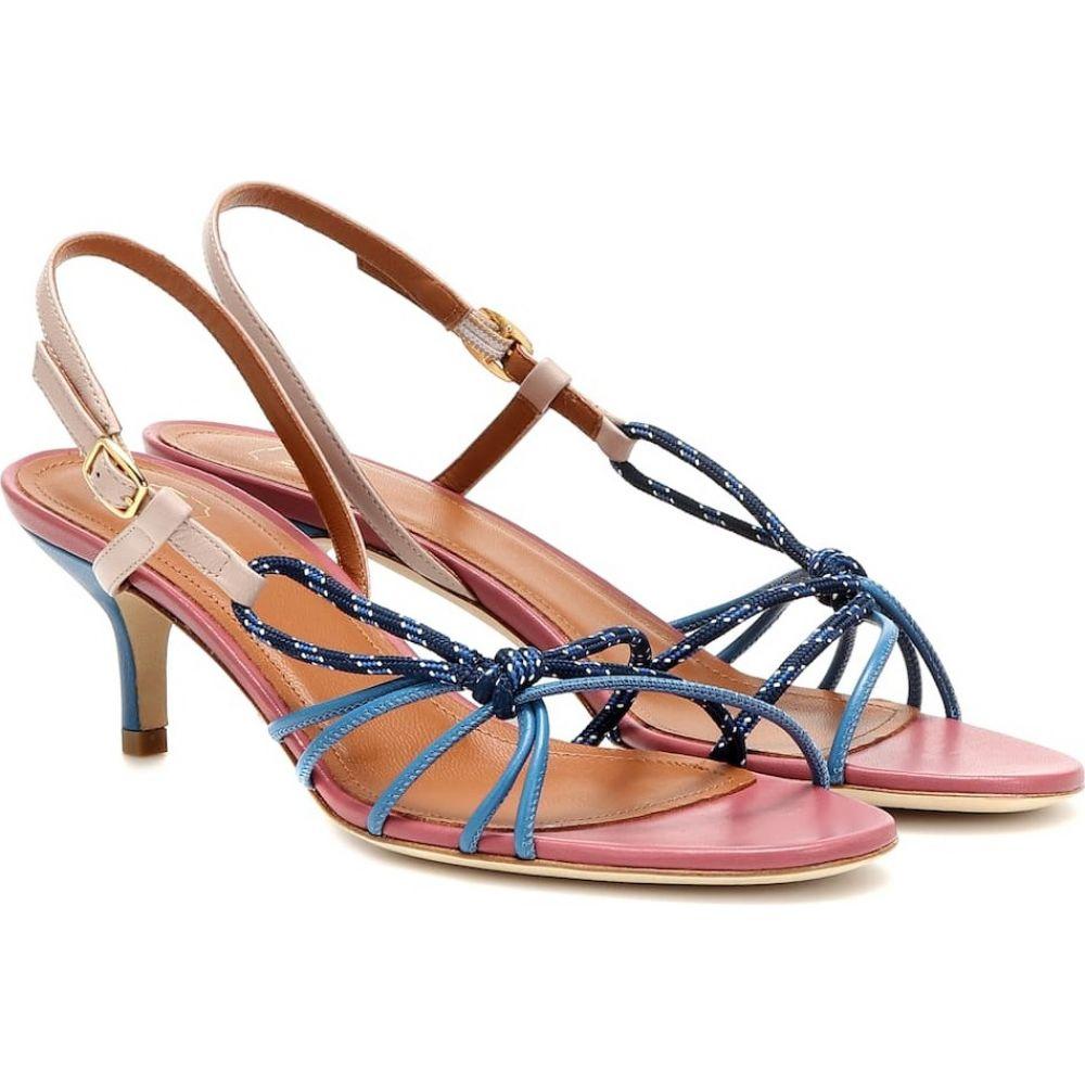 マローンスリアーズ Malone Souliers レディース サンダル・ミュール シューズ・靴【antwerp leather sandals】Blue/Dusty Rose