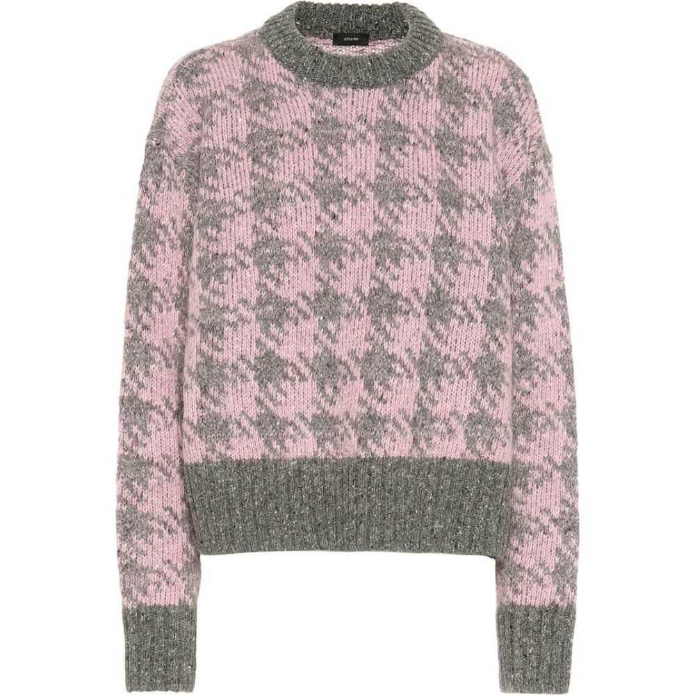 ジョゼフ Joseph レディース ニット・セーター トップス【wool and mohair-blend sweater】Pink Combo