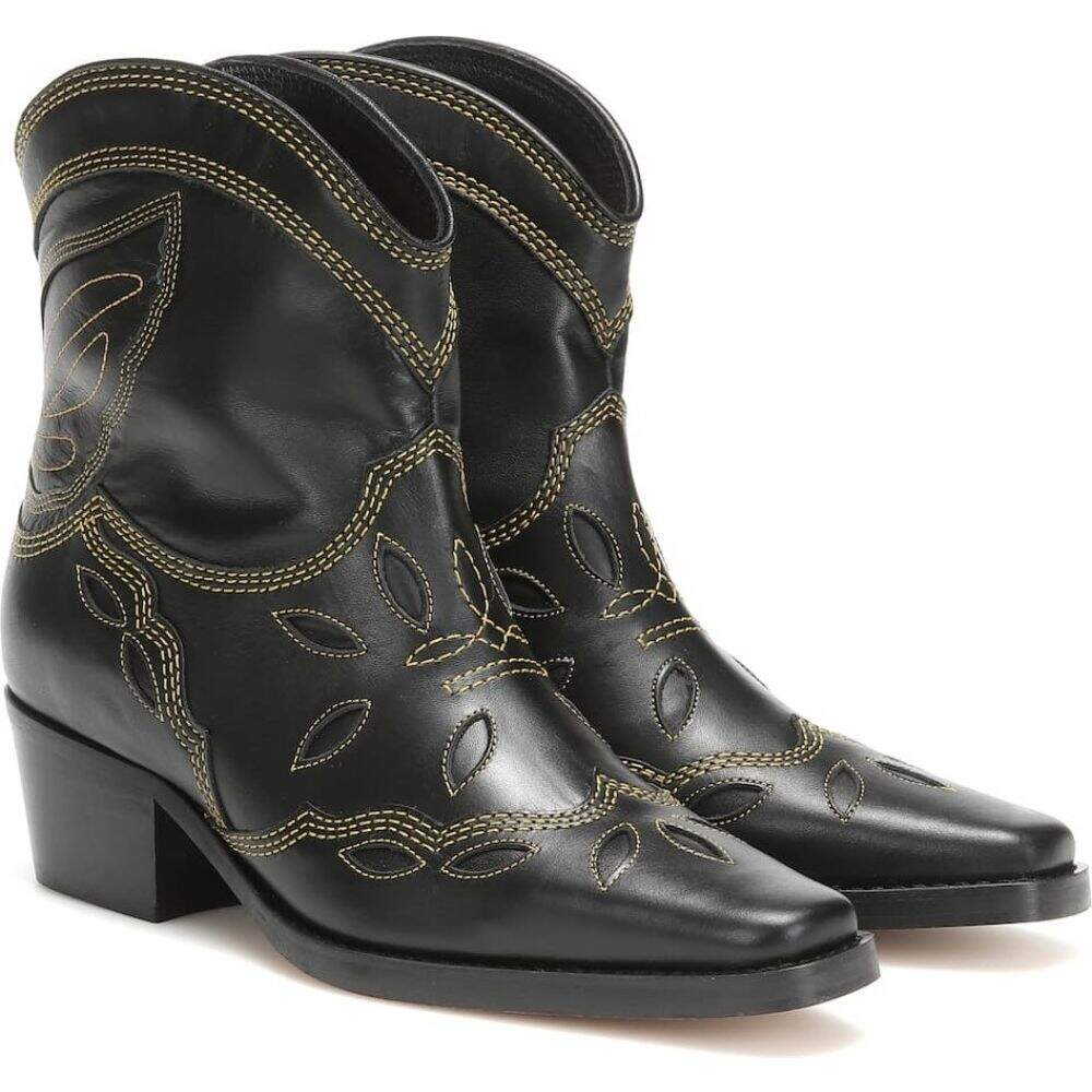 ガニー Ganni レディース ブーツ カウボーイブーツ シューズ・靴【low texas leather cowboy boots】Black