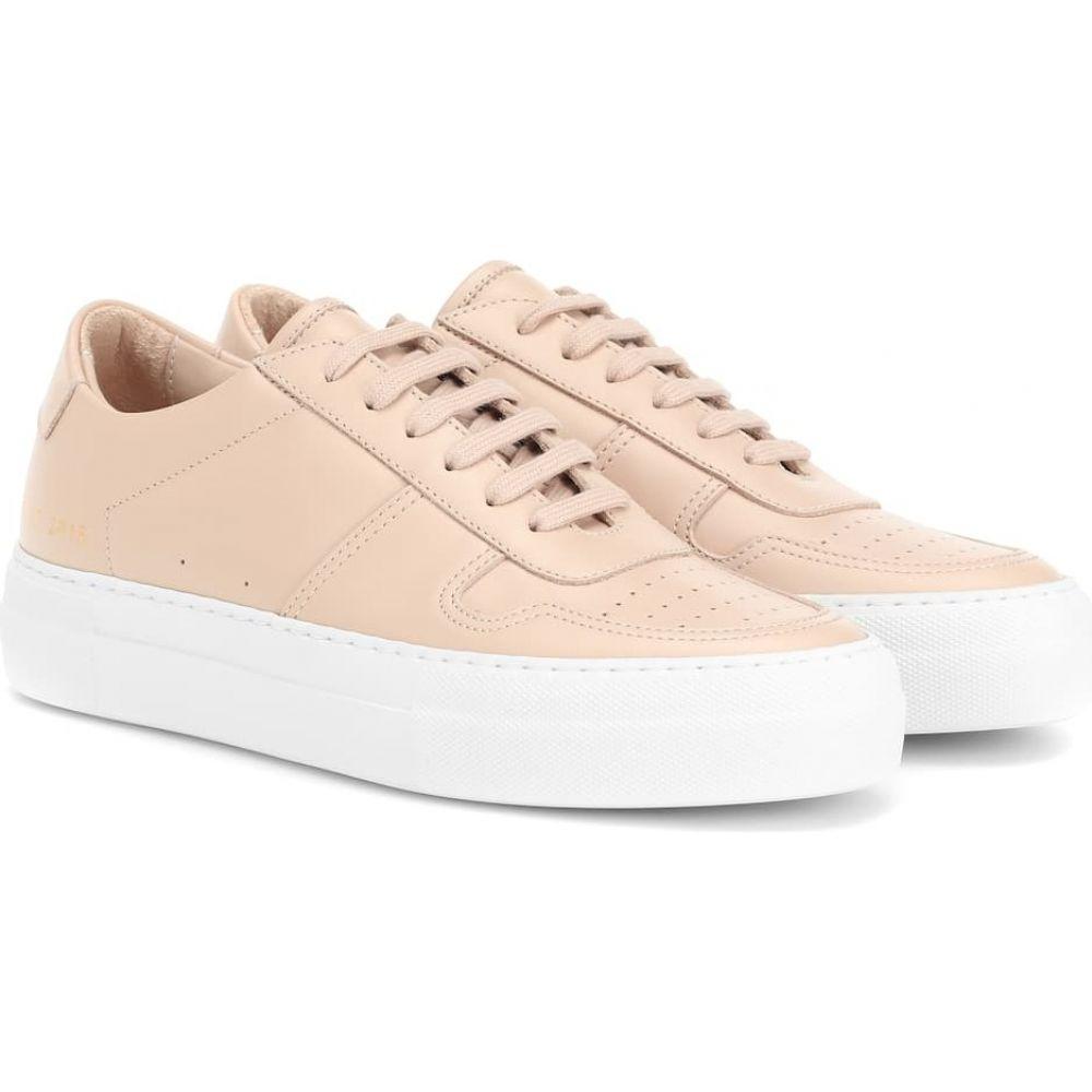 コモン プロジェクト Common Projects レディース スリッポン・フラット シューズ・靴【bball leather sneakers】Blush/White