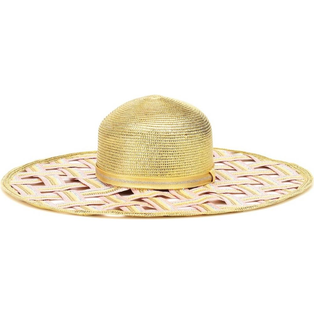ミッソーニ Missoni Mare レディース ハット 帽子 woven metallic wide brimmed hatqSLUVGjzMp