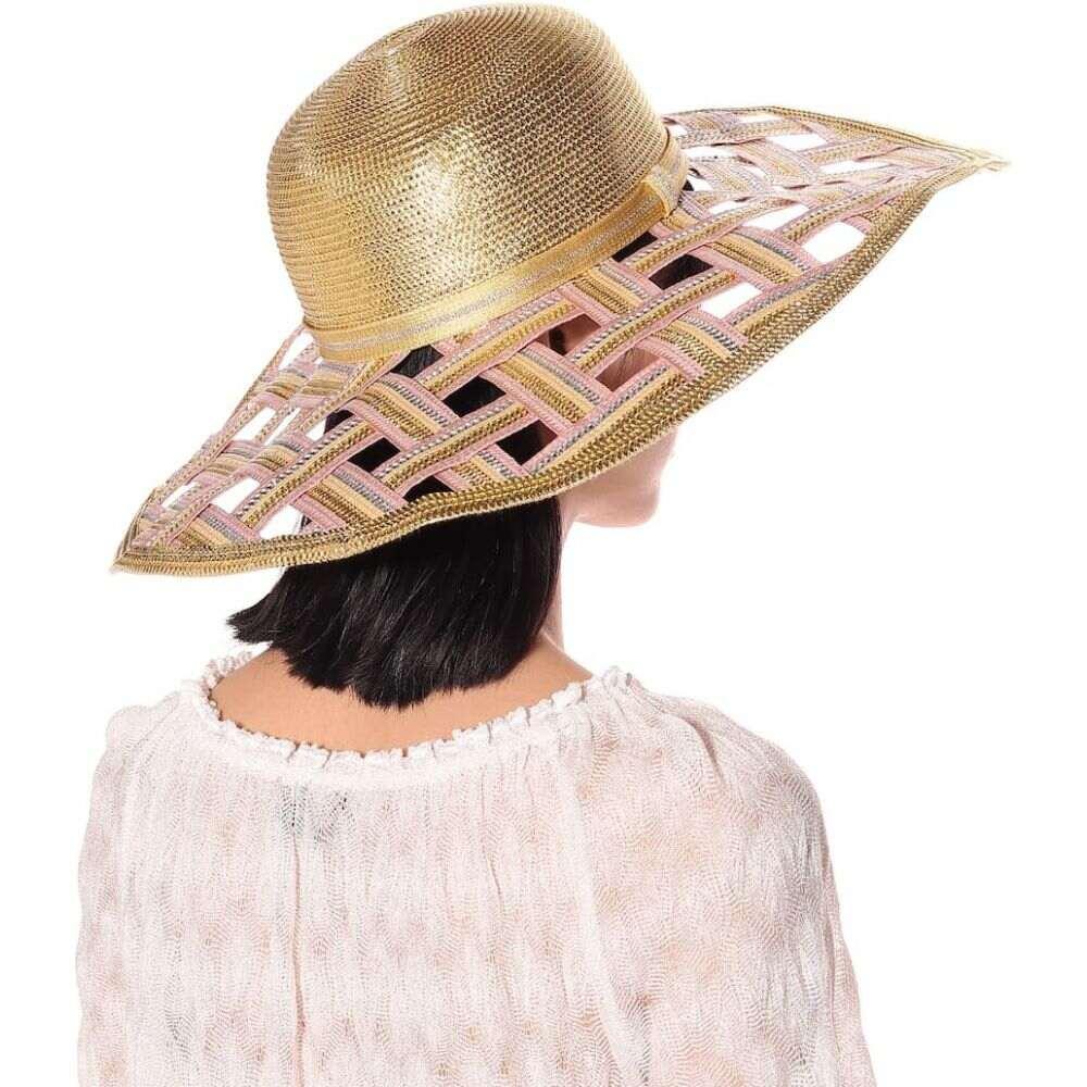 ミッソーニ Missoni Mare レディース ハット 帽子 woven metallic wide brimmed hat5Rj4L3A